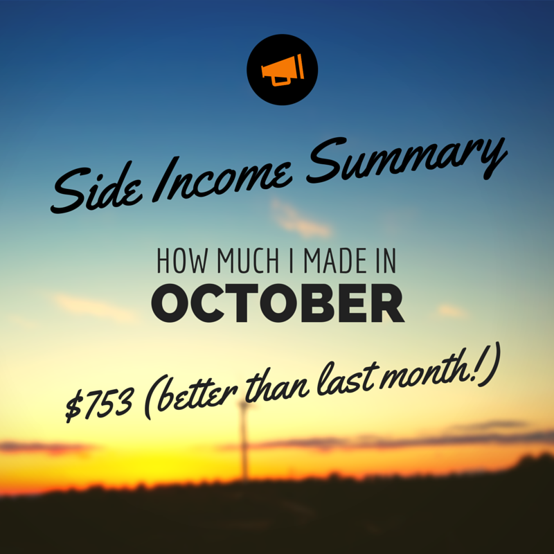 October Side Income $753