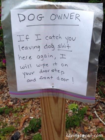 Dog shit sign in fort lauderdale