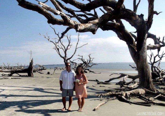 Where we got married - Driftwood Beach, Jekyll Island
