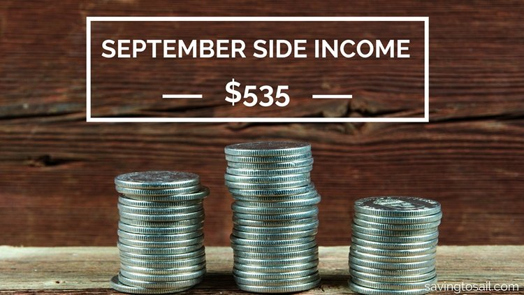 September Side Income $535