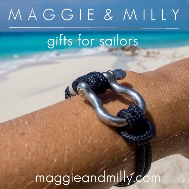 Maggie and Milly - nautical bracelets - holiday gifts for sailors