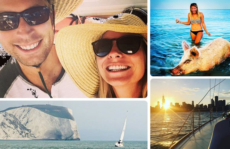 Will and Cat have a sailing Instagram account that will make you want to totally be friends. Although they sold the boat and are back at work saving for their next adventure, they still share some great photos of adventures past and present.