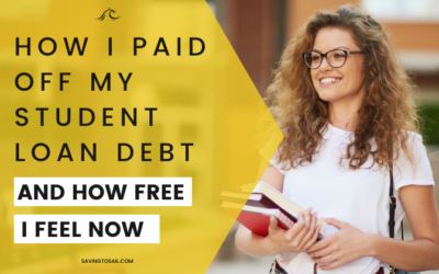 How I paid off my student loan debt & how I feel about my newfound freedom