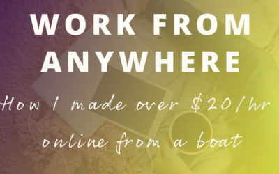 The exact ways I made over $20/hr online from a boat in the Caribbean