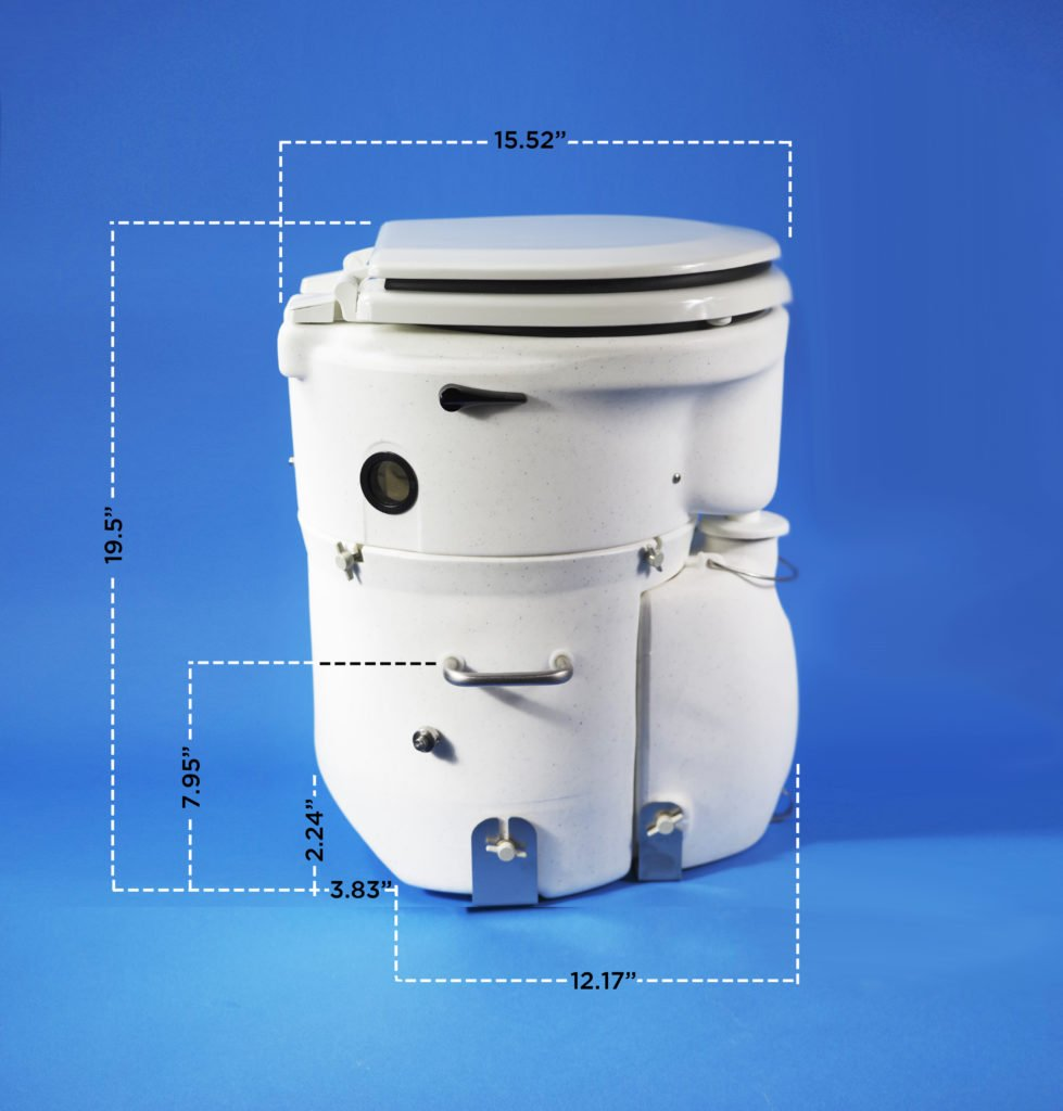 The best marine composting toilets for your boat - Air Head Composting Toilet dimensions